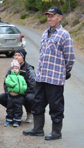Sören, Johan och Elliot, tre generationer på plats.